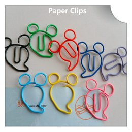 200Pcs Mickey Shape Paper Clips Creative Animal Bookmarks Memo Clip Stationery for Office School Home Use Xmas Gift