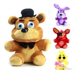 Jeu chaud Cinq nuits aux jouets en peluche de Freddy 4 FNAF Freddy Foxy animaux en peluche Fox Toys Doll pour bébé enfants poupées de noel à partir de jeux vidéo pour les enfants fournisseurs