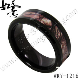 Tree Picture Inlay Tungsten Carbide Rings 8mm for Men WRY-1216