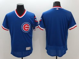 2016 MLB Men Chicago Cubs Blank Blue Pullover Majestic Flexbase Collection Baseball Jerseys Stitched Free Drop Shipping lymmia