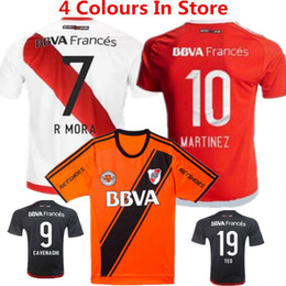 Wholesale 2016 River Plate Soccer Jersey Sanchez Rodrigo Mora Football Shirt Batistuta Balanta River Plate Club Argentina Red camisas Top quality
