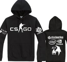 Wholesale New CSGO Cotton Fleece Hoodies TPS Game Counter Strike Global Offensive Teenagers Thick Hooded Sweatshirts