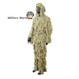 Wholesale Ghillie Suit Sniper Camo Woodland Snow Hunting Bionic Training Clothes Bird Watching Ghillie Suits Airsoft Disguise Uniform