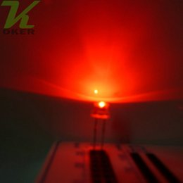 1000pcs 5mm Red Straw Hat Ultra Bright LEDS Diode Kit led 5mm Straw Hat LED Light Diodes Free Shipping