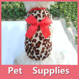 Wholesale Pets Dog Leopard Clothes Puppy Winter Warm Hoodie Fleece Sweater Costume Apparel With Colors
