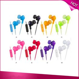 Wholesale HA FR6 Earphone Gummy Plus In Ear Remote Microphone Noise Isolation mm Headphone for iPhone iPod Samsung with Packaging Box Colorful Red