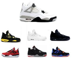 Wholesale Retro IV s basketball shoes mens bred Mars Cavs athletic trainer sports footwear sneaker