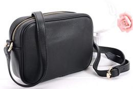 Fashion Black Solid Color Grained Real Calf Leather Lady Handbag Women Casual Designer Shoulder Bag Messenger