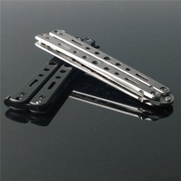 Wholesale Hot Cheapest Practice Butterfly Muti Functional Metal Balisong Trainer Training Knife Tool