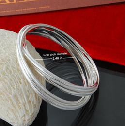 Factory direct wholesale 925 sterling silver bracelet bangles fashion 8 ring matte silver jewelry silver bracelet