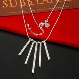 Multi-Layer Choker Statement Chain Necklace Factory Direct Wholesale 925 Sterling Silver Necklace Fashion Silver Necklace Five Stick