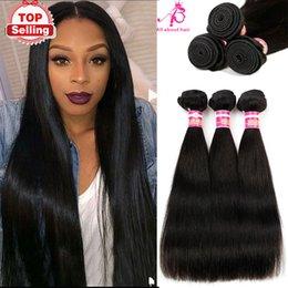 Wholesale HOT A Peruvian virgin hair straight unprocessed human hair weaves bundles dye able hair extensions price AB hair