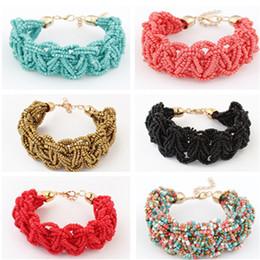 Wholesale Bohemian Beads Bracelet Women Men Adult Novelty Fashion Party Statement Jewelry Bracelets Valentine Gift Colors