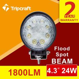 10pcs lot 24W led work light bar 12V LED tractor work lights for trucks 4X4 car ATV motorcycle led offroad light