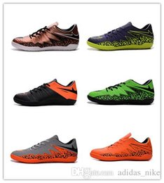 Wholesale 2016 New Hypervenoms Phelon II IC NMen s Indoor Soccer Shoes Cheap Genuine Leather Soccer Cleats Big Discount Football Shoes