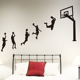 Wholesale Basketball Wall Sticker Game Stadium Wall Art Wall Decals For Kids Rooms Basketball Equipment Store Mural Sticker Home Decor
