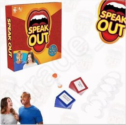 Wholesale Speak Out Board Game Mouthpiece Mouth Interesting Party Challenge Game Christmas Toys For Kids OOA744