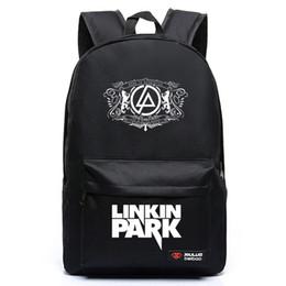 Free Shipping Harajuku Canvas Galaxy Rock Music Linkin Park Printing Backpack School Bags for Teenagers Travel Bag Mochila Escolar