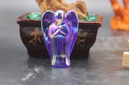 Wholesale Top g mall sculpture natural quartz crystal purple angel aura little angel