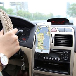 Wholesale Magnetic Mobile Car Phone Holder Universal For iPhone Samsung Galaxy S6 S5 S4 S3 Aluminum Silicone Car Air Vent Stand Mount