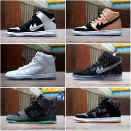 Sb dunks en Ligne-Drop Shipping Wholesale Fameux Dunk High Pro SB Cork Tin Man Hommes Femmes Chaussures Skateboard Sneakers Sports Running Shoes Taille 5.5-10