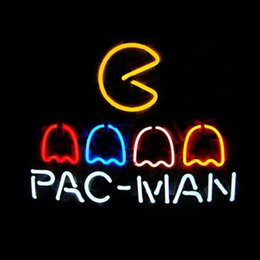 PAC MAN Real Glass Neon Light Sign Home Beer Bar Pub Recreation Room Game Room Windows Garage Wall Sign
