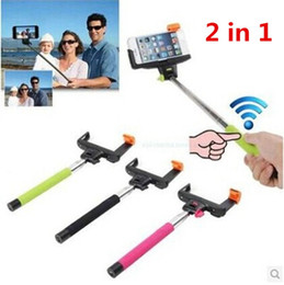 Z07-5 Wireless Selfie Monopod With Clip Holder Without Wire Selfie Stick Built-in Remote Button For iPhone 6 plus Ios Android Samsung Galaxy