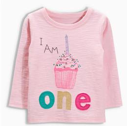 Wholesale BST17 NEW ARRIVAL Little Maven girls Kids Cotton Long Sleeve cartoon ice cream print T shirt girl causal spring autumn t shirt