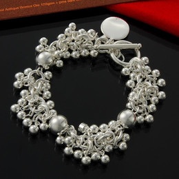 Factory direct wholesale 925 Sterling Silver TO 60 grains of solid Bead Bracelet Silver Jewelry