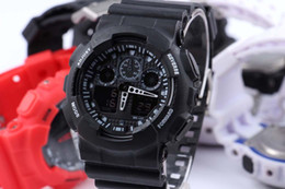 Wholesale Watches Promotion Hardlex New Arrival Plastic Unisex Retail Fashion G Watch ga100 Time Zone Watch Watches