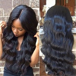 New Fashion Body Wave Synthetic Lace Front Wigs Black Heat Resistant Brazilian Hair Wig For African American Black Women Lace Wig Sintetica