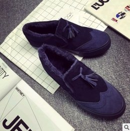 Wholesale Winter low male money to help the pedal lazy shoes add wool low heat preservation cotton shoes for men s casual shoes