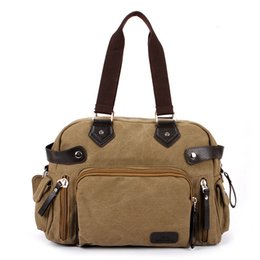 Wholesale Best Selling Male Leisure Satchel Briefcase Tote Men Shoulder Messenger Bag Travel Handbag Durable Canvas Crossbody Bags ZA0210 salebags