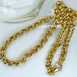 n309-Silver tone heavy Stainless steel 23.6 inch Necklace link jewellerya50cm 60cm 70cm Men Boys 316L Stainless Steel Gold tone Ring Linkd N