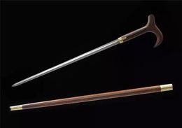 Wholesale sword cane Poles Adjustable Metal Walking Stick Cane Ergonomic Handle Aluminum Column Non slip Rubber Base Outdoor Climbing Hills Gear