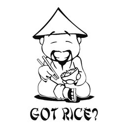 Got Rice Burner Man Funny JDM Car Truck Window Wall Laptop Vinyl Decal Sticker