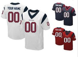 Wholesale New Men s Texans Elite Custom Football Authentic Jerseys Any Name Any Nmuber Professional High Quality Stitched Jerseys Low Price