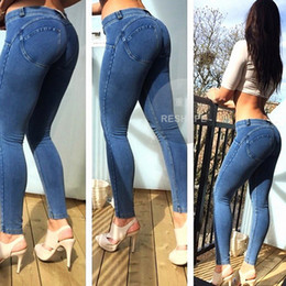 Wholesale 2016 Women Sport Pants jeans Edition High Elastic Freddy Low Waist Shaping Sexy hip Fashion Pantalones Fitness Tight trousers