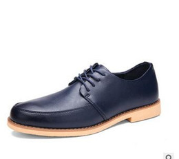 Mens chaussures marron confortables en Ligne-Classique Fashion Black New arrivée Mens Dress Shoes 2016 dyanmic Hommes / brun / bleu affaires Oxford Chaussures confortable PX24 Chaussures Casual