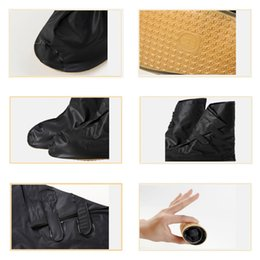 Wholesale 2016 Hot sale Waterproof Rain Shoes Cover Thicker Non slip Boots Covers Cycling wear for men directly washed Waterproof Adjusting Tightness