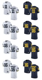 Wholesale Customized Jumpman Michigan Wolverines Jersey Wistert Brothers Ann Arbor GO BLUE Robinson Men Limited College Football Jerseys