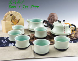 Wholesale China Ding Kiln Tea Sets Porcelain kungfu Tea Sets Ancient Ding kiln in china Cheap Price with good quality gift box
