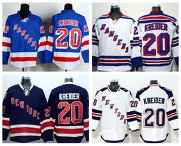 New York 20 Chris Kreider Rangers Jerseys Ice Hockey Stadium Series Chris Kreider Jersey Home Blue Navy Road Away White