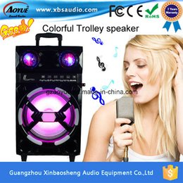 Wholesale Single Inch Portable Digital Speaker audio Ms D Re chargeable Trolley Speaker with Bluetooth FM MP3 SD