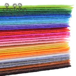Wholesale Tela no tejida de poliéster de mm de espesor láminas de fieltro del patrón de la decoración del hogar Bundle para coser muñecas de artesanía x15cm