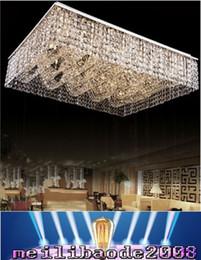 Descuento montaje en el techo accesorios de iluminación nueva montura de estar ligera sala rectangular lámparas de techo cristalinas de la lámpara al ras, amplio vestíbulo moderno hotel de la luz de la lámpara MYY