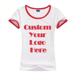 Wholesale 10 CUSTOM SCREEN PRINTED LADIES QUALITY COTTON T SHIRTS PRINT ONE COLOR INK COTTON TEE HFCMT005