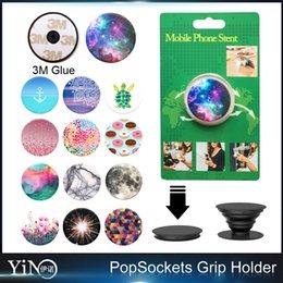 Wholesale Universal Stand Bracket Pop Socket Tensile folding and Grip for Smartphones Tablets PopSockets Stand Bracket Phone Holder MOQ
