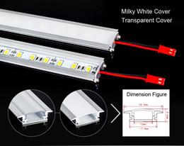 Super bright 7W 50CM led Rigid Strip light 5630 LED Bar light U aluminum Light Non-Waterproof 72LEDs M LED DC12V 5630 LED Tube