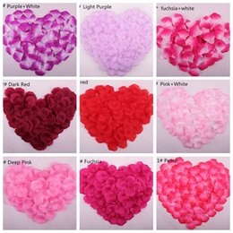 Wholesale Cheap Online Wedding Party Silk Rose Flower Petals Leaves Wedding Suppliers Table Decoration